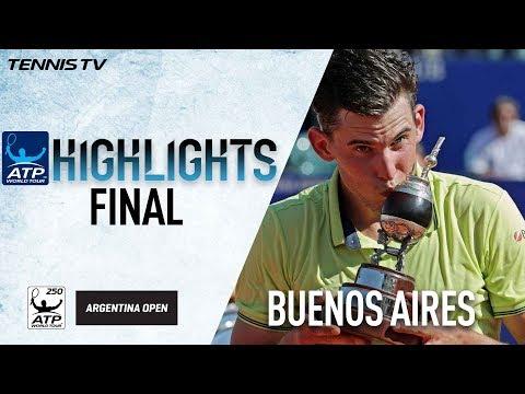 Highlights: Thiem Beats Bedene In Buenos Aires Final 2018