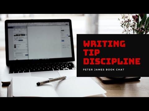 Peter James | Writing Tip | Discipline