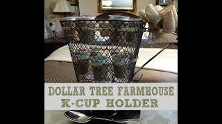 100% DOLLAR TREE FARMHOUSE K-CUP HOLDER DIY
