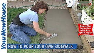 How to Make a Concrete Sidewalk - Do It Yourself
