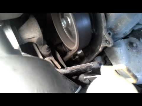 DAEWOO MATIZ Натяжение ремня ГРМ при работе двигателя. - Видео на ютубе