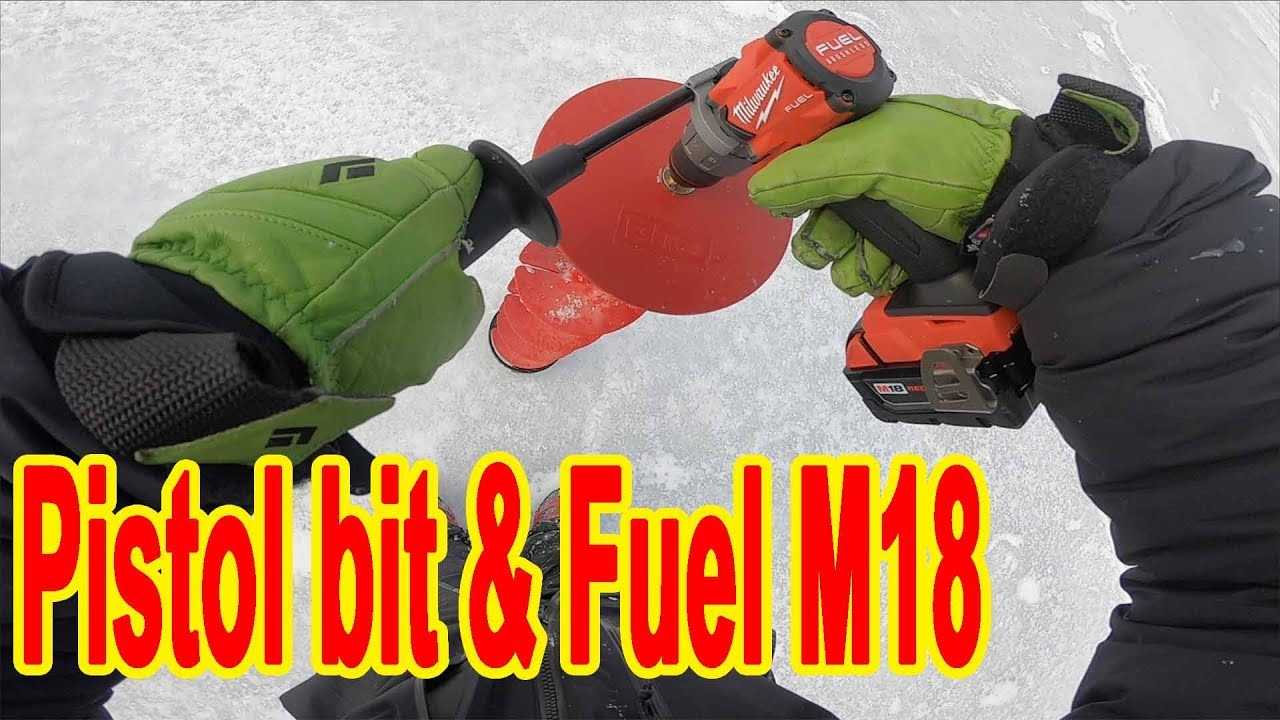 Eskimo Pistol bit 8 & Fuel M18 - the impressions after ice fishing-
