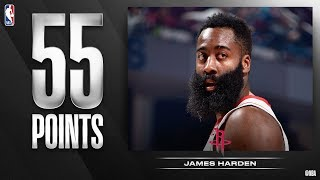 James Harden 55 Points vs Cavs! Clutch 4th! 2019-20 NBA Season