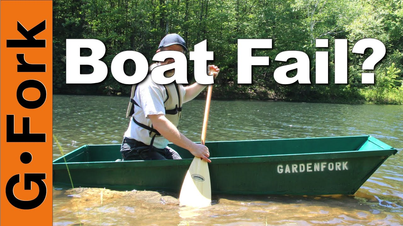 One Sheet Plywood Boat Fail Or Float Gardenfork Youtube