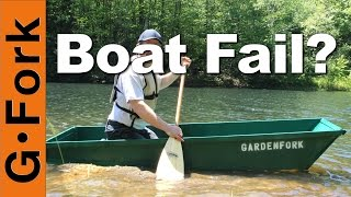 One Sheet Plywood Boat 2.0 - Fail Or Float? : Gardenfork.tv