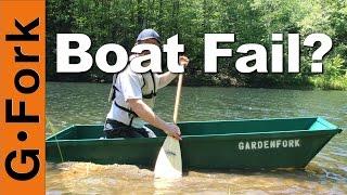One Sheet Plywood Boat 2.0 - Fail Or Float? : Gardenfork.tv