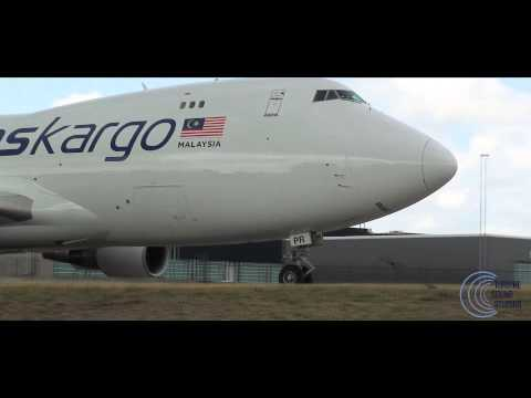 Boeing 747-4H6F Malaysia Airlines Cargo - Awesome Pratt & Whitney sound !