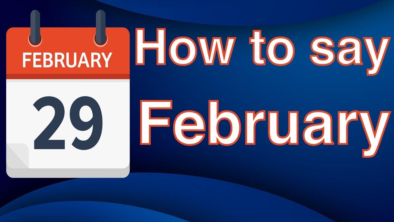 How To Pronounce FEBRUARY like an American English Pronunciation