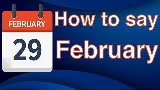 """Como pronunciar """"FEBRUARY"""" - Pronúncia americana"""