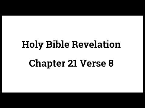 Holy Bible Revelation 21:8