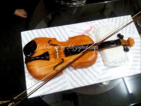 Violin Fondant Cake 2011 Youtube