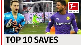 Top 10 Saves 2018/19 So Far! - Neuer, Bürki, Trapp & Co