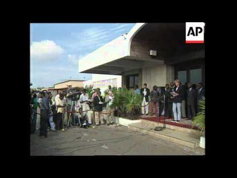 ANGOLA: LUANDA: BRITAIN'S DIANA PRINCESS OF WALES VISIT
