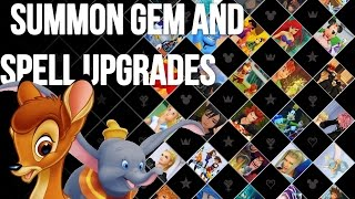 Kingdom Hearts 1.5 HD - Kingdom Hearts Final Mix - Summon Gem and Spell Upgrades Guide
