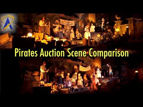 Pirates Original/New Auction Scene Comparison at Magic Kingdom
