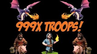 Attacking the Top Players of Clash Of Clans with 99999 Troops