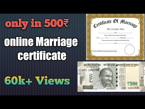 Marriage Registration Certificate Online Process 2018/ 2019 Hindi Only In 500 Rs