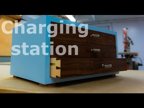 Woodworking project - Charging station!
