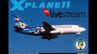 X-Plane   B722 B732   KPDX-KSMF-KSLC-KABQ   VOR to VOR   Happy Labor Day