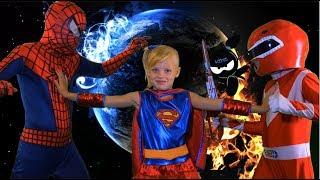Spider-Man vs Red Ranger AWESOME BATTLE! & Handstand Race?