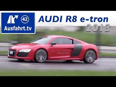 Probefahrt und Fahrbericht zum 2013 Audi R8 e-tron / Test / Review / Erfahrungen