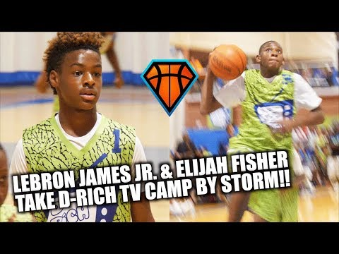LeBron James Jr. & Elijah Fisher Took The D-Rich TV Camp By STORM!! | Rising 7th Grade Prospects
