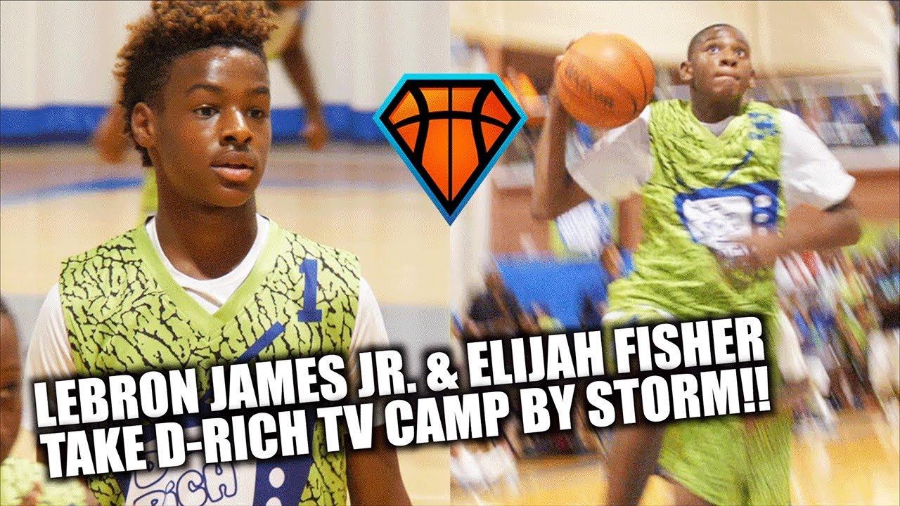 LeBron James Jr. & Elijah Fisher Took the D-Rich TV Camp ...