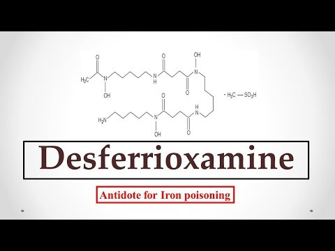Deferoxamine (DFOA) uses, antidote effects, mechanism, indications and ADR's ☠