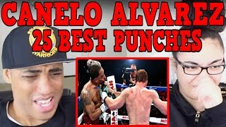 Top 25 Best Canelo Alvarez Punches HD REACTION | MY DAD REACTS