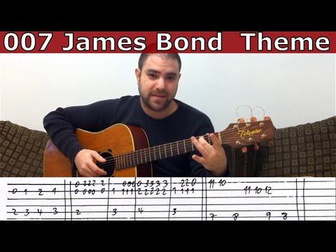 Fingerstyle Tutorial: 007 James Bond Theme - Guitar Lesson w/ TAB