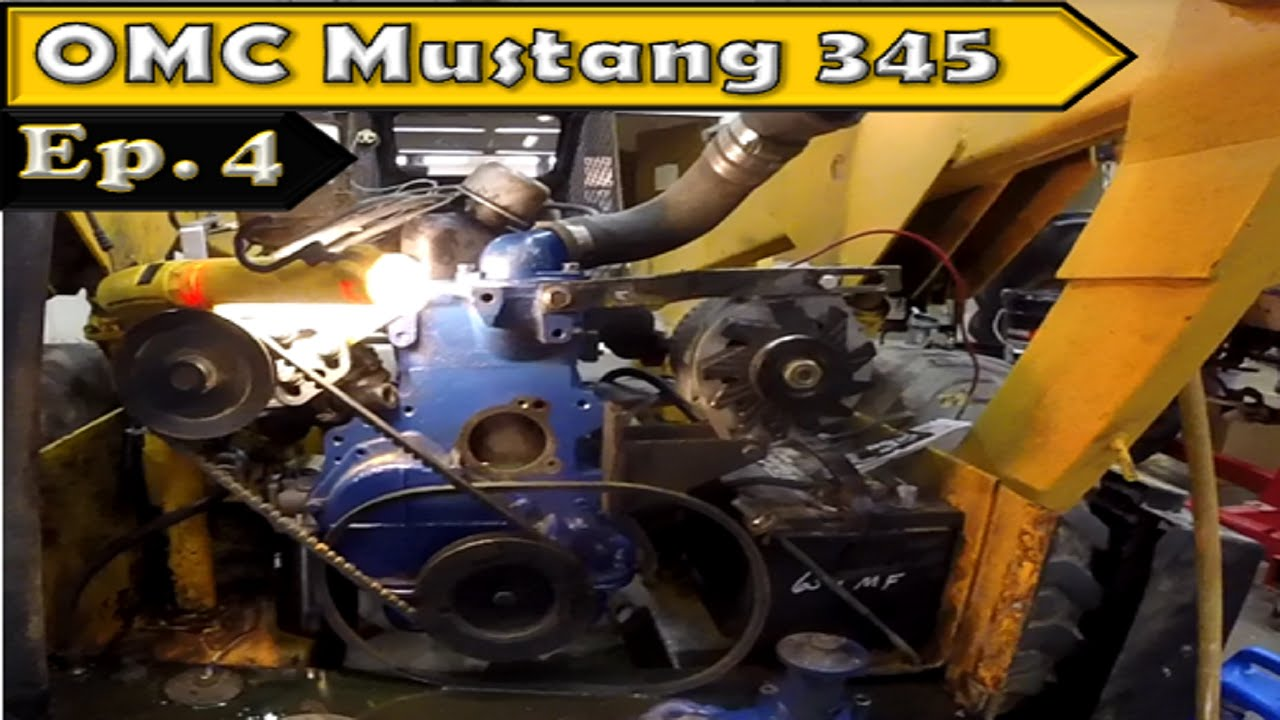OMC Mustang 345 Skid Steer: Engine Installation on