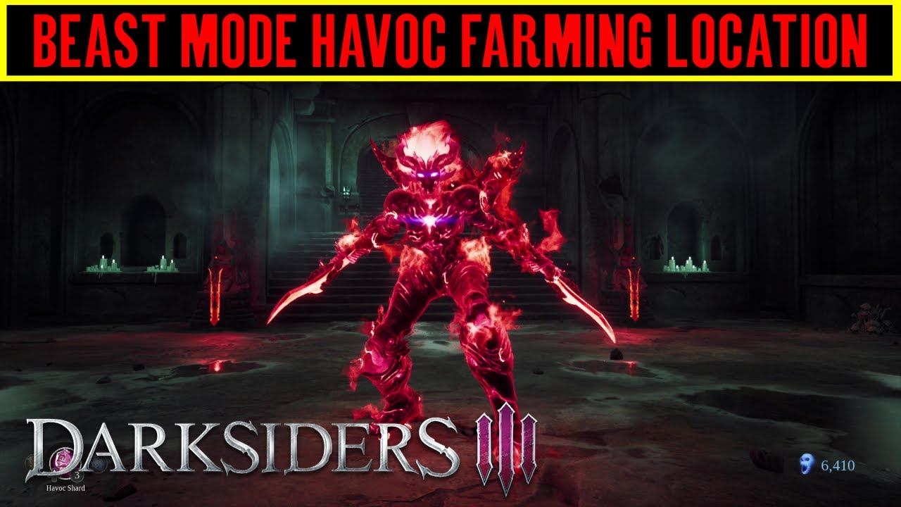 Darksiders 3 Havoc Farming Location - Beast Mode Trophy / Achievement Guide  (Havoc Form)
