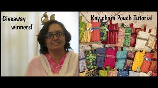 KEYCHAIN POUCH SEWING TUTORIAL/GIVEAWAY WINNERS/Sivakasi Samayal Express 168