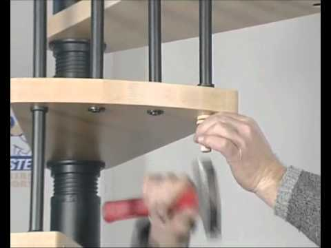 Escalier helicoidal en kit spiral wood 2 2 youtube for Escalier colimacon exterieur en kit