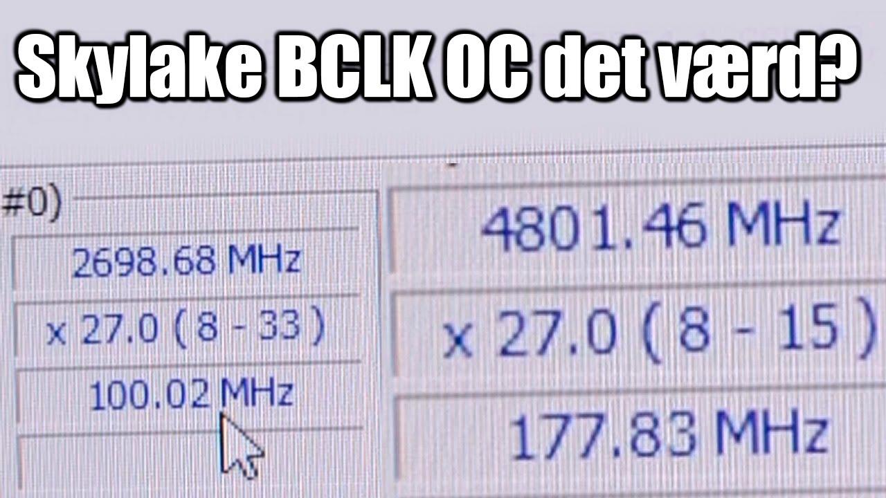 Er Skylake BCLK Overclocking det værd? feat  Core i5 6400 @ 4 8 GHz!