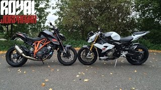 rev battle ktm 1290 super duke r vs bmw s1000rs