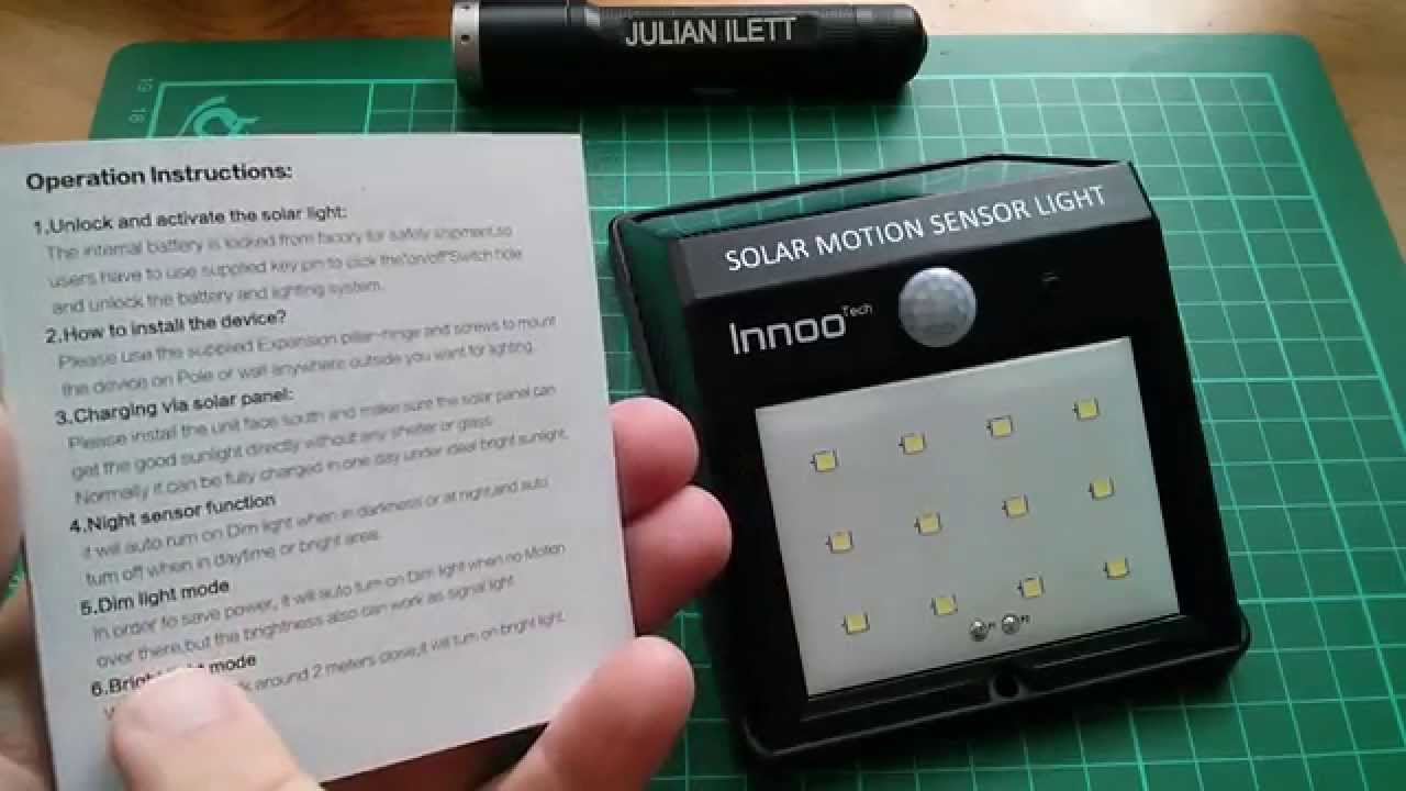 motion sensor light instructions
