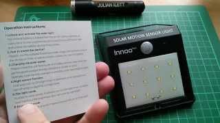 Innoo Tech 12-LED Solar Motion Sensor Light Review