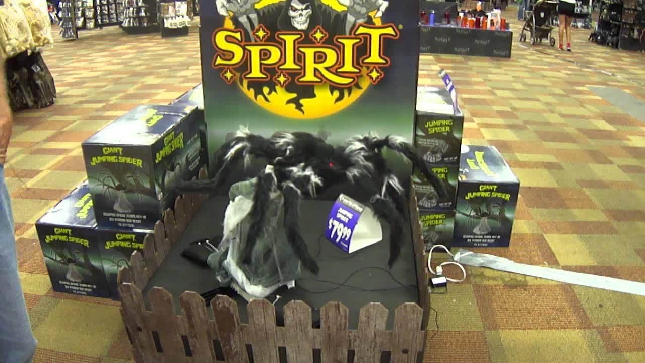 spirit halloween giant jumping spider 2012 youtube