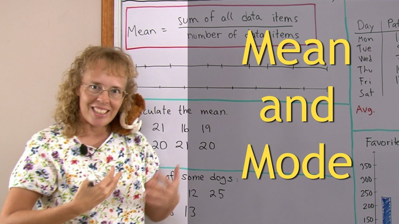 hight resolution of The concept of mean (average) for 5th grade math (also mode)