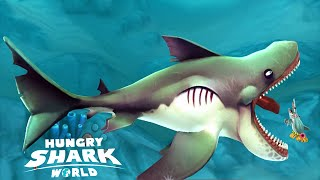 Hungry Shark World: Mostly All Sharks Found - Max Survival Max Score