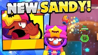 NEW Legendary Brawler Sandy! - | First Look! | - Sandy Gameplay In Brawl Stars!