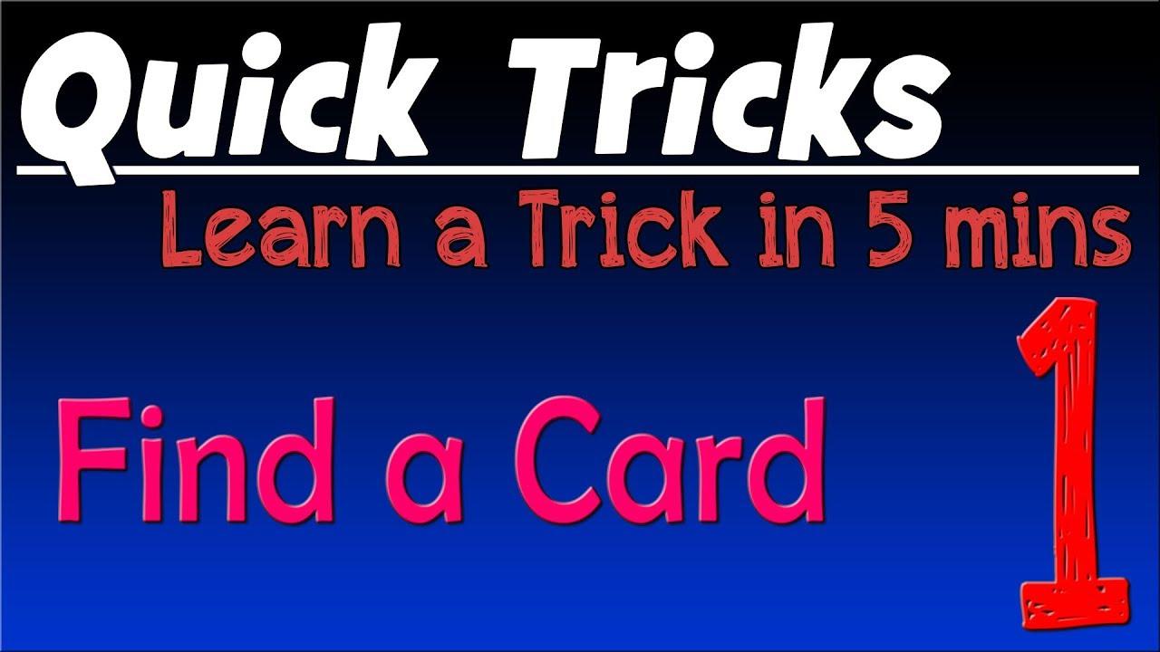 quick trick 1  easy magic trick  chosen card found