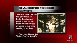 Dioceses say they will release the lists of accused priests