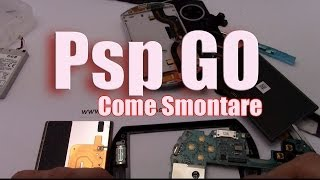 sostituzione lcd psp go disassembly assembly lcd battery button replacement
