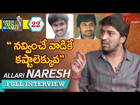 Allari Naresh Exclusive Interview | Open Talk with Anji | #22 | Latest Telugu Interviews