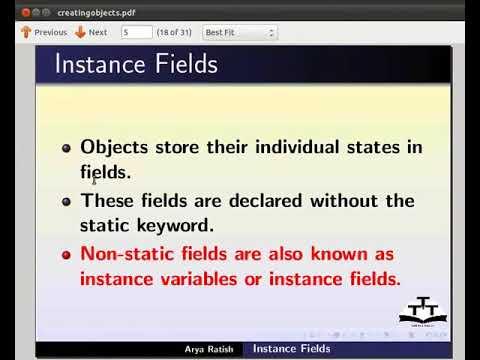 Instance fields - Persian