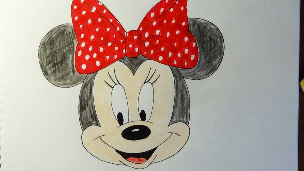 Mickey Mouse Tekenen How To Draw Minnie Mouse Como Dibujar Minnie Mouse Как