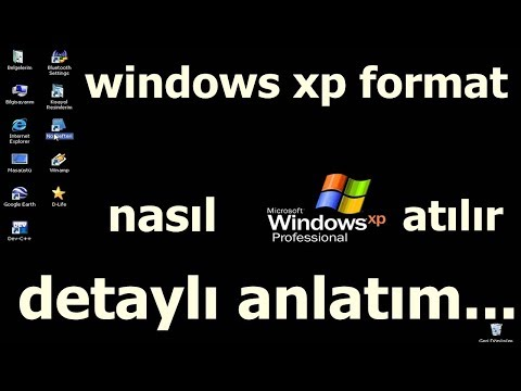 WİNDOWS XP FORMAT NASIL ATILIR