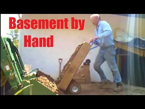 Basement Excavation By Hand Youtube